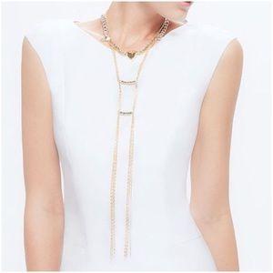 NIB Jewelmint Gold Tassel Necklace